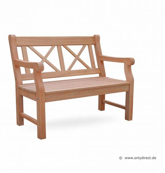 2-Sitzer Holzbank CLIFF - Astfreies  FSC Hartholz Natur