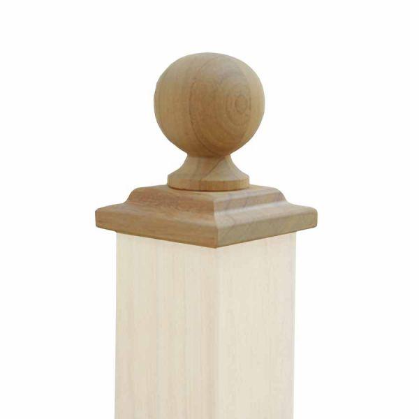 Beispiel: Abdeckung Kugel 11 x 11 cm - Kambala Hartholz