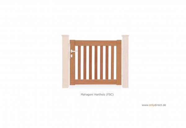 Einzeltor PURE - Mahagoni Hartholz (FSC) Natur