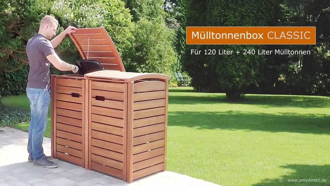 Banner-2er-Muelltonnenbox-CLASSIC-120-Liter-astfreies-FSC-Hartholz