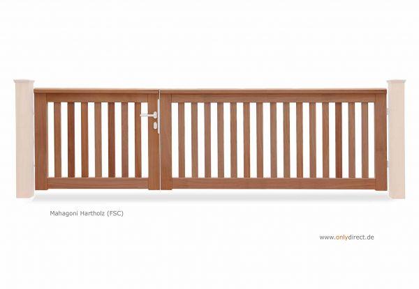 Mahagoni (FSC) Natur - Preis ohne Pfosten + Zubehör