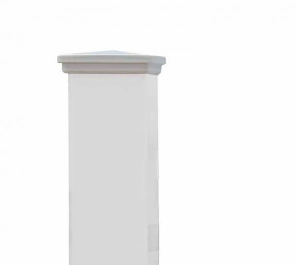 Beispiel: Abdeckung Spitze 11 x 11 cm - Mahagoni weiß lackiert