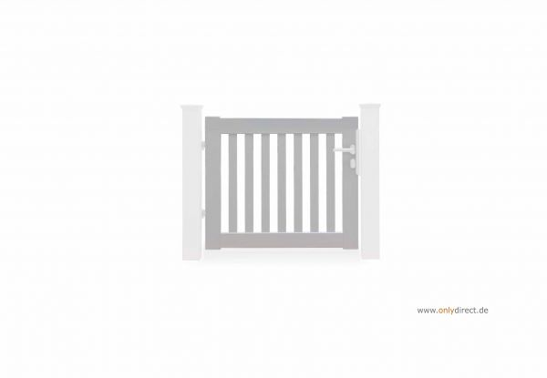Einzeltor PURE - Astfreies Mahagoni Hartholz (FSC) weiß lackiert