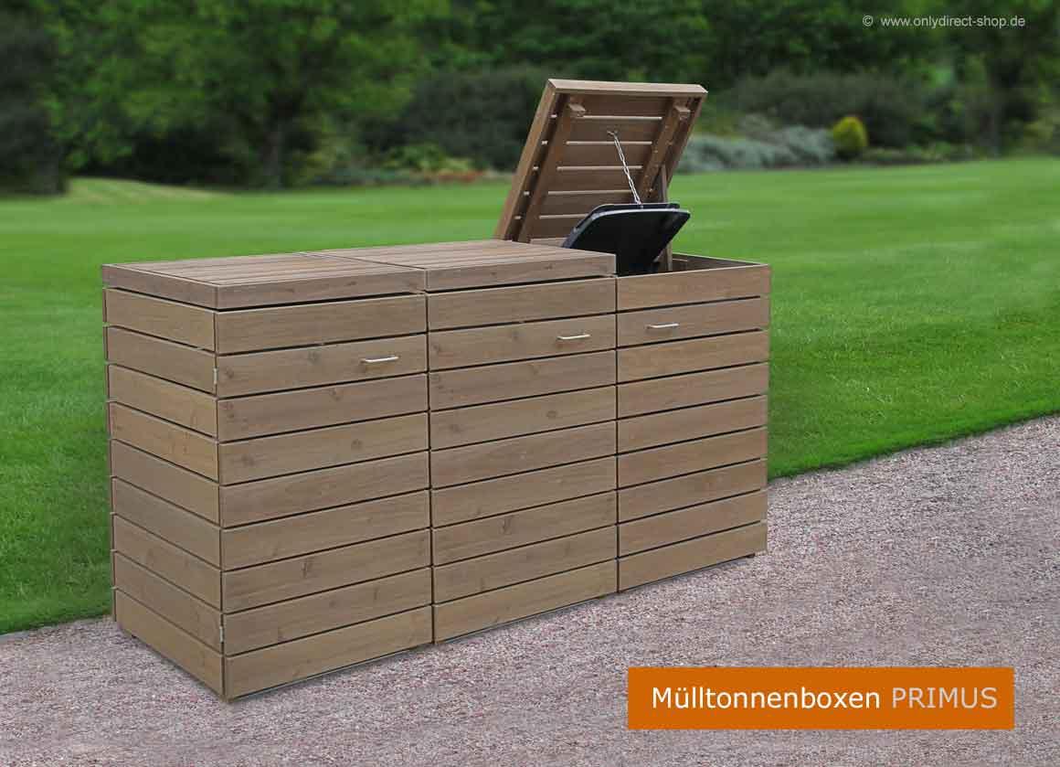 Muelltonnenboxen-PRIMUS-120-240-Liter-Asiatische-Zeder-Holz-braun
