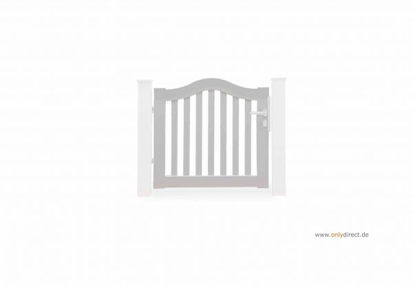 Einzeltor SWING - Mahagoni Hartholz weiß lackiert - Preise ohne Pfosten + Zubehör