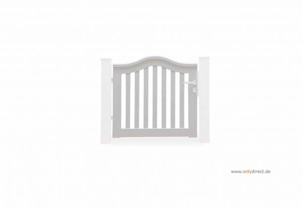 Einzeltor SWING plus - Mahagoni Hartholz weiß lackiert - Preise ohne Pfosten + Zubehör